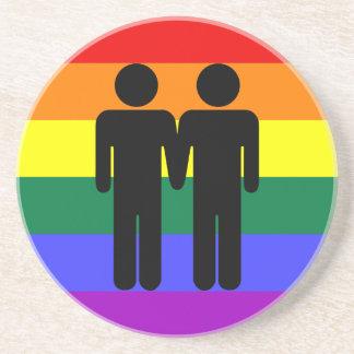 Boy + Boy Rainbow Coaster
