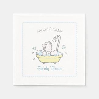 Boy Bubble Bath Baby Shower Napkins Disposable Napkin