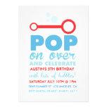 Boy Bubble Party Themed Birthday Invite