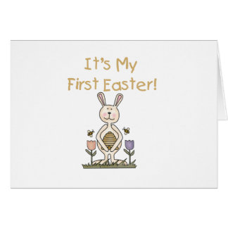 Boy Bunny 1st Easter T-shirts and Gifts Card