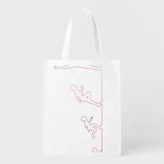 Boy Childhood Ambition and Chasing His Dreams Reusable Grocery Bag