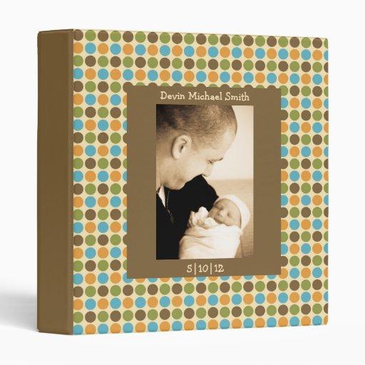 Boy Colors Polka Dot Baby Book 3 Ring Binders