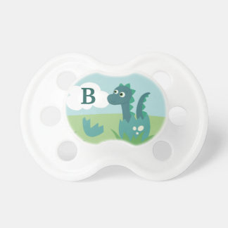 Boy dinosaur personalized baby pacifier