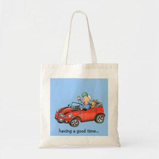 Boy & Dog in Red Toy Car - Bag