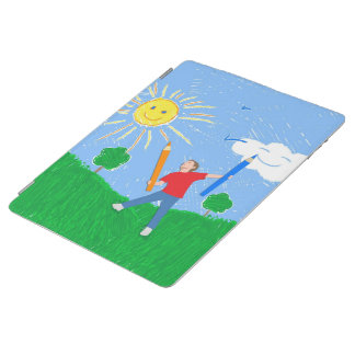 Boy Drawing iPad Cover