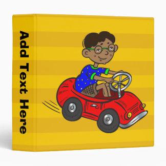 Boy Driving Toy Car Binders