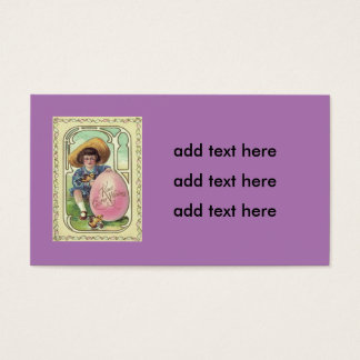 Boy Easter Chick Colored Egg Business Card