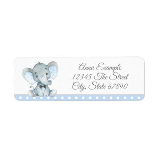 Boy Elephant Address Labels