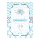 Boy Elephant Baby Shower Invitations