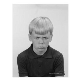 Boy Facial Expressions Postcard