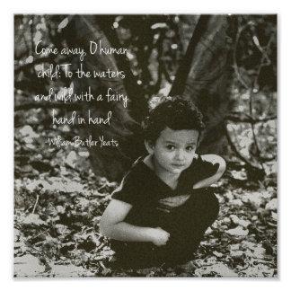 Boy Fairy William Yeats Quote Photo Print