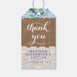 Boy favor tags for Baptism or Christening Party