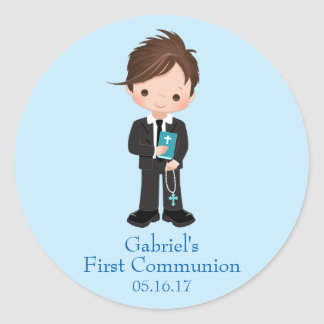 Boy First Communion Stickers Envelope Seals