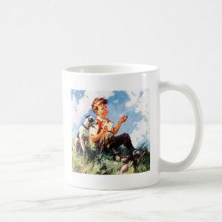 Boy Flying A Kite Coffee Mug