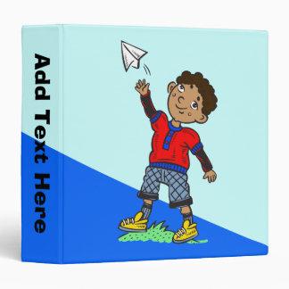 Boy Flying Paper Airplane Binders