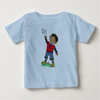 Boy Flying Paper Airplane Shirt
