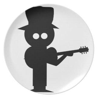 Boy Folk Singer Plate