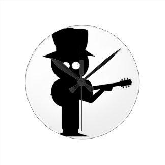 Boy Folk Singer Round Clock
