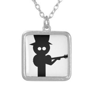 Boy Folk Singer Silver Plated Necklace