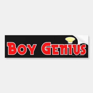 Boy Genius Bumper Sticker
