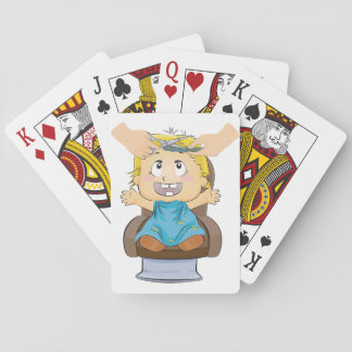 Boy Getting A Haircut Playing Cards