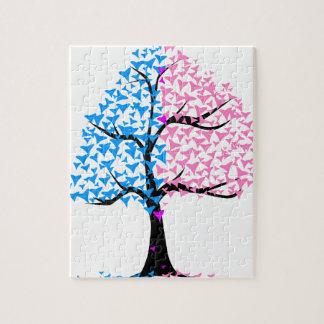 Boy Girl Hearts Tree Jigsaw Puzzle