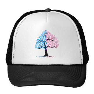 Boy Girl Hearts Tree Trucker Hat