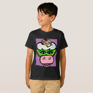 BOY/GIRL MARDI GRAS - Ice Cream Cow HOLIDAY Series T-Shirt