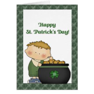 Boy Gold St. Patricks Day Card