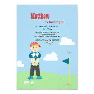 Boy Golfer Invitation