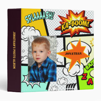 Boy Hero Action Photo Album 3 Ring Binder