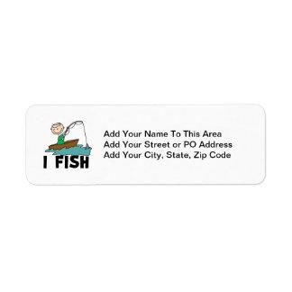 Boy I Fish Return Address Label