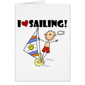 Boy I Love Sailing Card