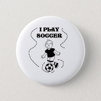 Boy I Play Soccer 2 Inch Round Button