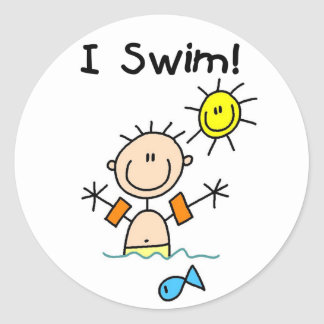 Boy I Swim Sticker