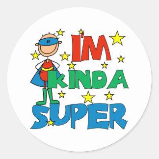 Boy I'm Kinda Super Classic Round Sticker