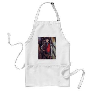 Boy In A Red Waistcoat,  By Paul Cézanne Standard Apron