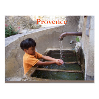 Boy in Provence postcard