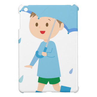 Boy in the Rain iPad Mini Cases