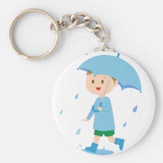 Boy in the Rain Keychain