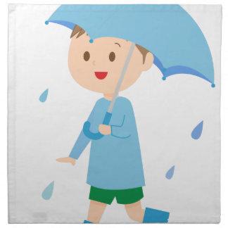Boy in the Rain Napkin