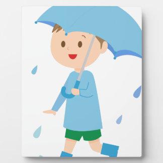 Boy in the Rain Plaque