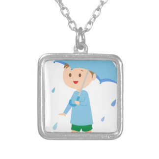 Boy in the Rain Silver Plated Necklace