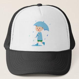 Boy in the Rain Trucker Hat