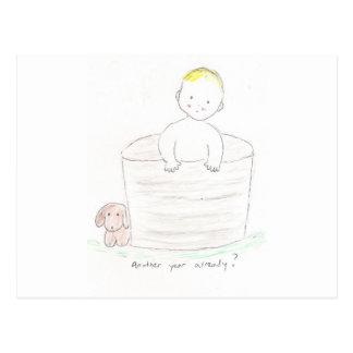Boy in Tub Postcard