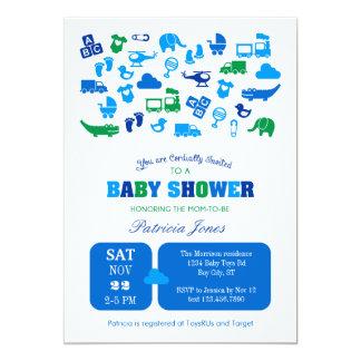 Boy Items Baby Shower Invitation