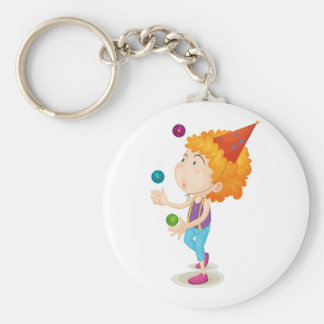 Boy Juggling Keychain