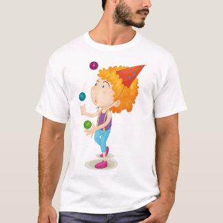 Boy Juggling Mens T-Shirt