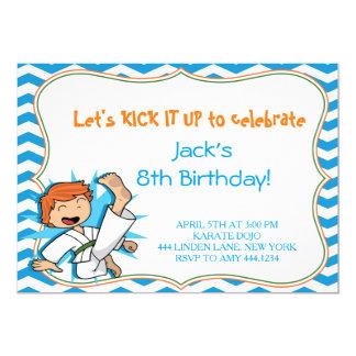 Boy Karate Martial Arts Birthday Party Invitations