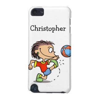 Boy kicking soccer ball iPod Speck Case